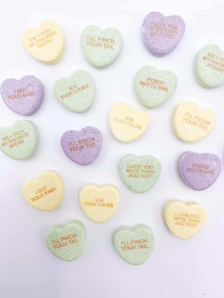 Fleurty Girl NOLA Conversation Hearts, Valentine Candy