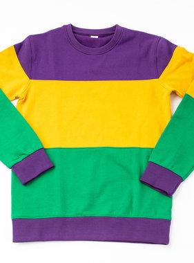 Bold Block Mardi Gras Sweatshirt