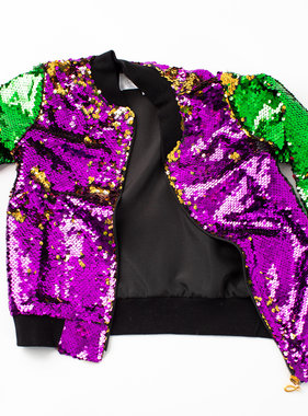 Mardi Gras Sequin Jacket, Kids