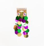 Mardi Gras Sequin Dangle Earrings