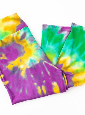 Mardi Gras Bold Tie Dye Leggings, Toddler