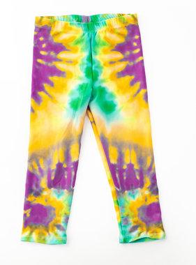 Mardi Gras Bold Tie Dye Leggings, Youth