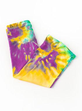 Mardi Gras Bold Tie Dye Leggings