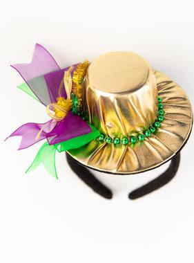 Mardi Gras Mini Hat Headband