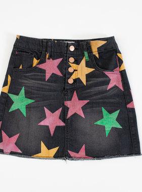 Mardi Gras Stars Denim Skirt
