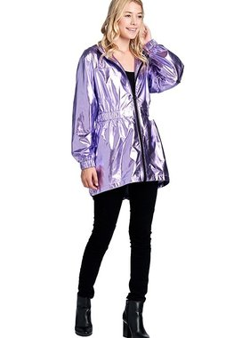 Iridescent Purple Raincoat