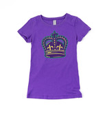 Mardi Gras Crown Tween Tee