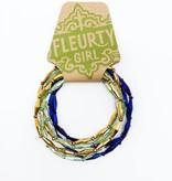 Mardi Gras Beaded Bracelet Set