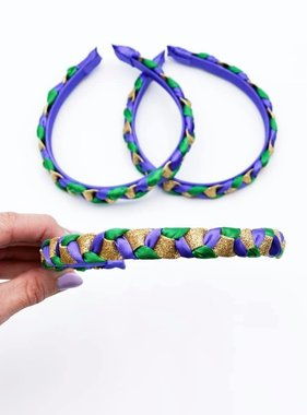 Mardi Gras Braided Hard Headband