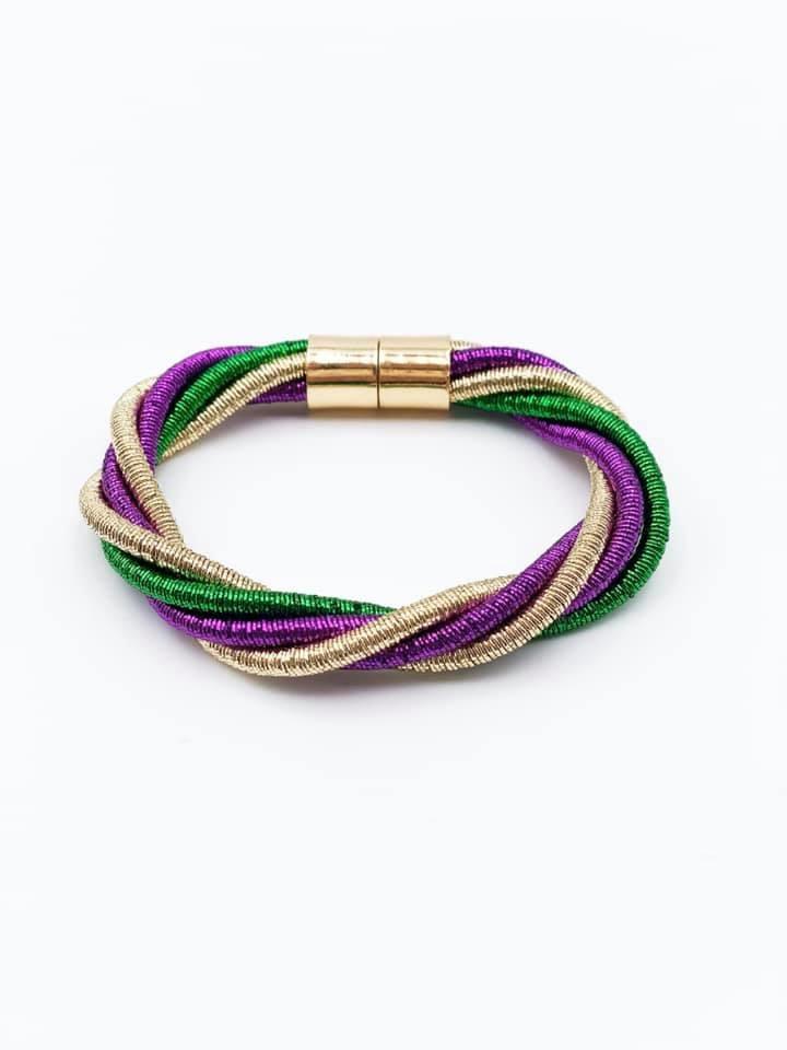 Mardi Gras Magnetic Twist Bracelet