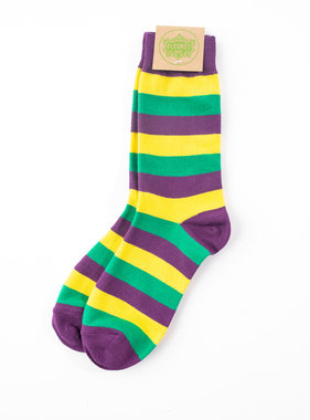 Mardi Gras Classic Stripe Socks