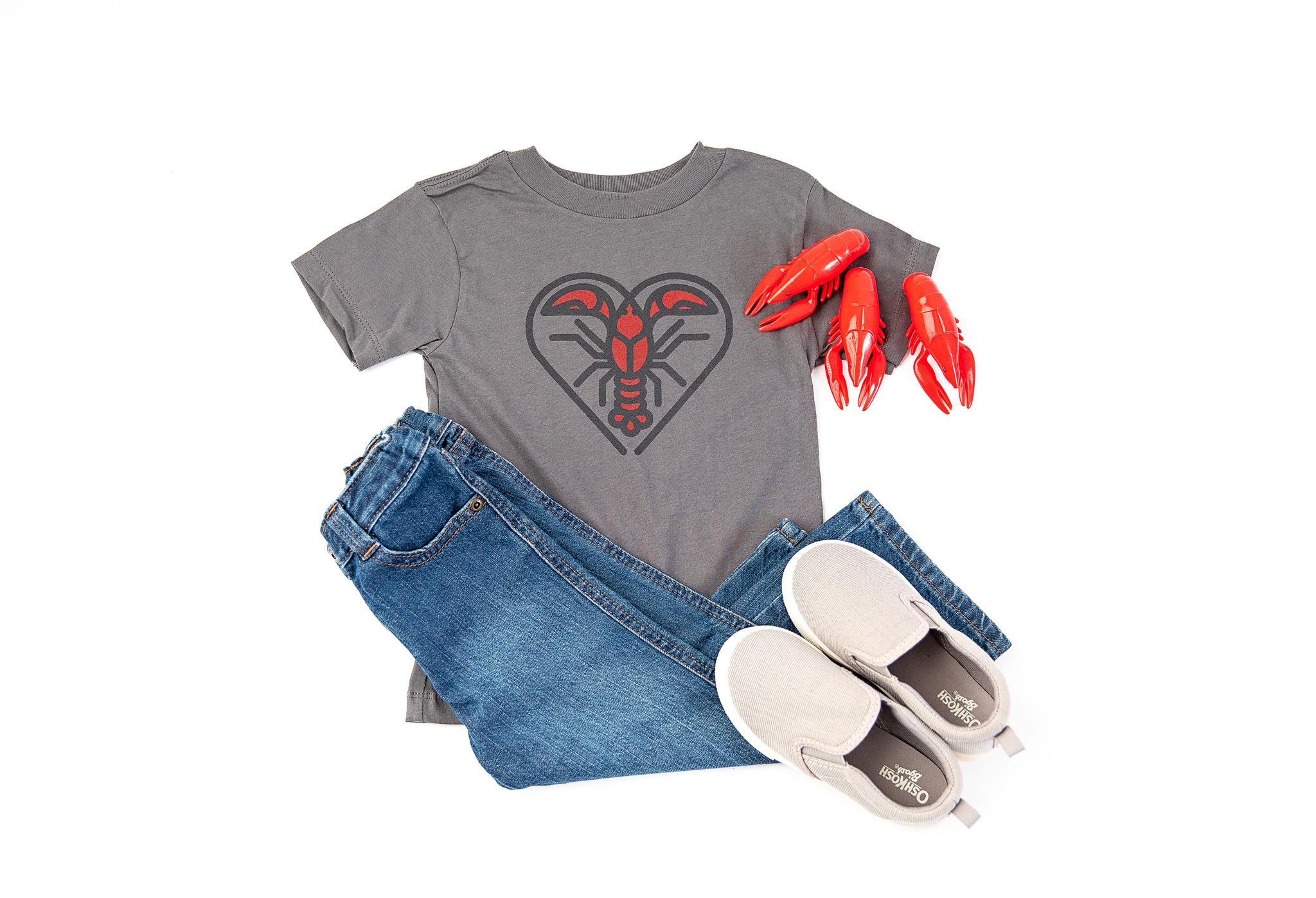 Parish Ink Crawfish Heart for Kids
