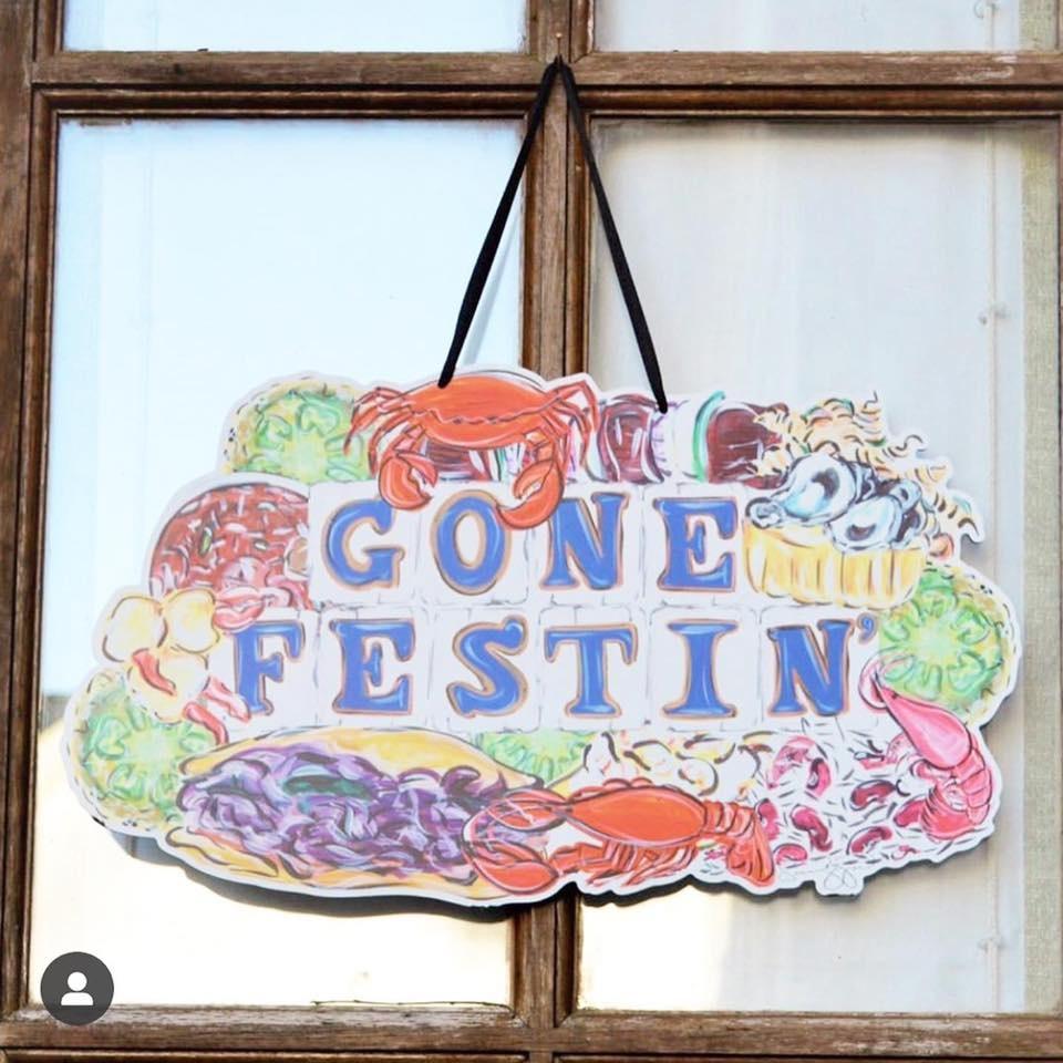Gone Festin' Door Hanger