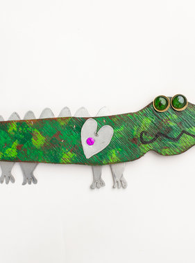 Wooden Alligator Art