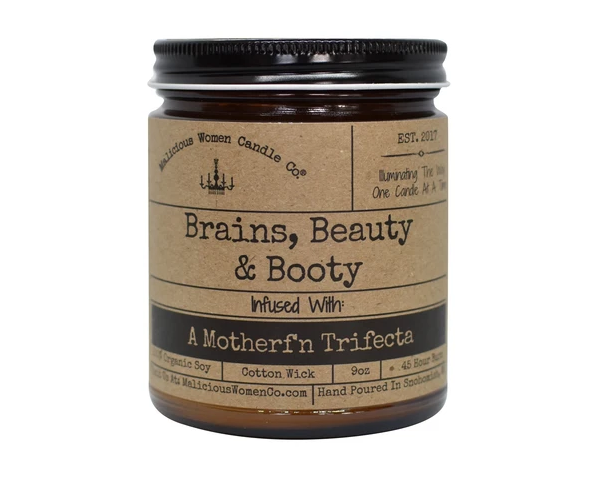Brain, Beauty & Booty Candle