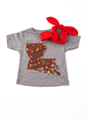 Louisiana Crawfish Tee, Kids