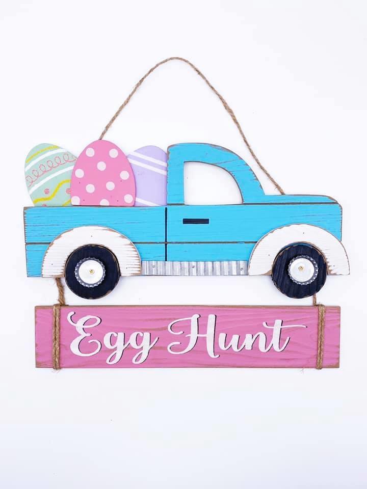 Pickup Door Hanger, Egg Hunt