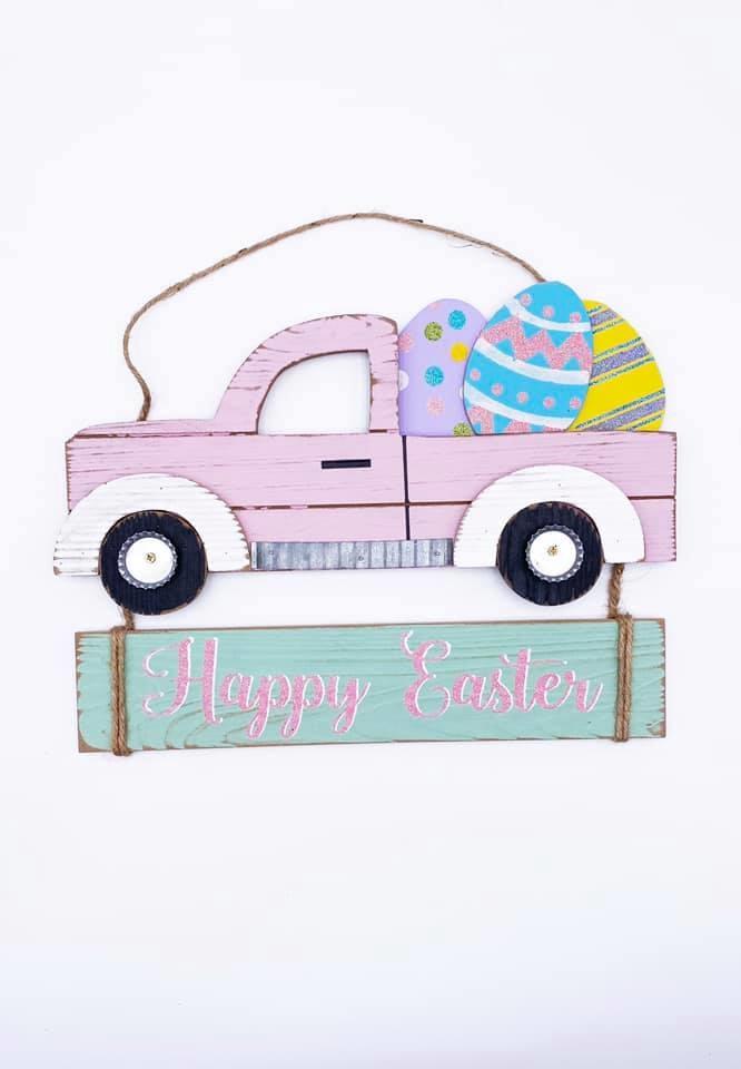 Pickup Door Hanger, Happy Easter