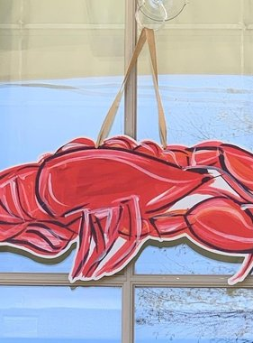Red Crawfish Door Hanger