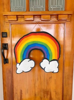 Rainbow Door Hanger