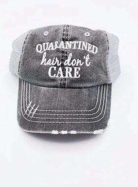 Quarantined Hair Don't Care Tucker Hat