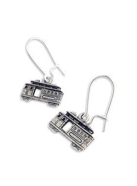 Streetcar Earrings, Silver