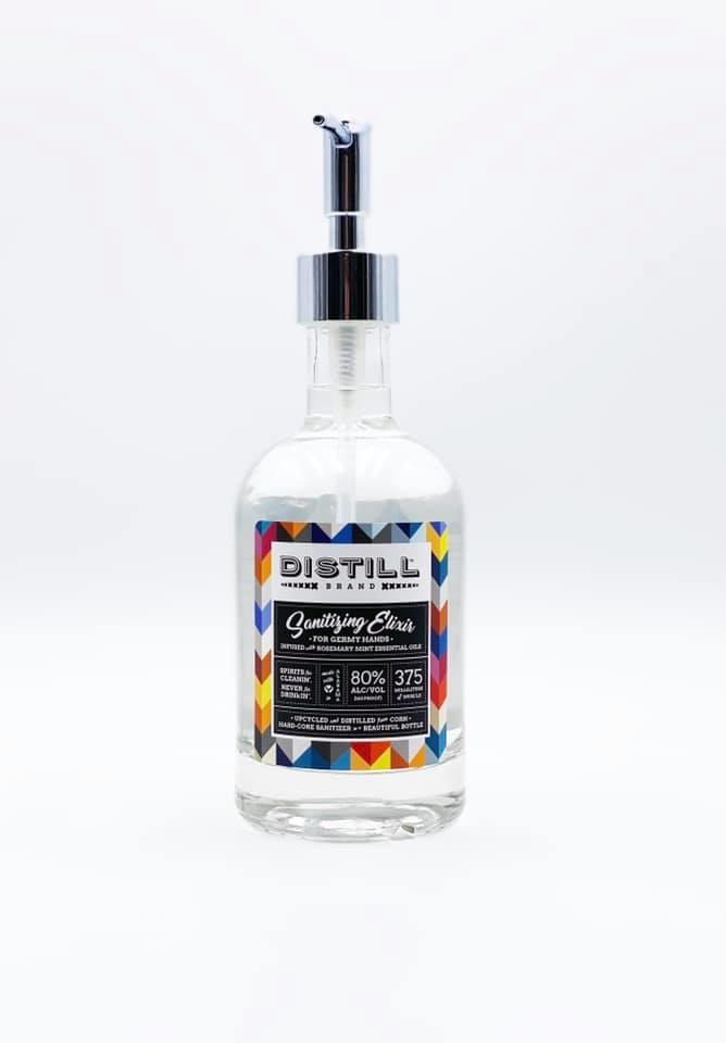 Rosemary Mint Sanitizer in Glass