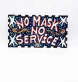 Simon No Mask No Service Sign