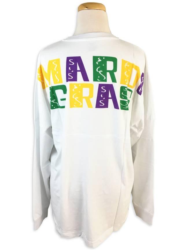 Mardi Gras Spirit Jersey, White