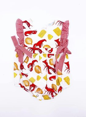 Crawfish Boil Ruffled Onesie
