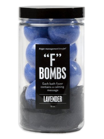 """F"" Bombs Bath Fizzers In A Jar"
