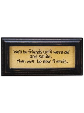 Old And Senile Friends Wall Art