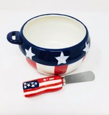 Americana Bowl w/ Spreader Set