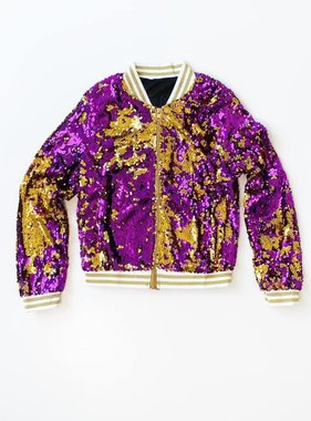 Purple & Gold Magic Sequin Jacket