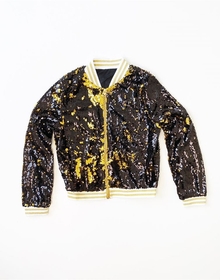 Black & Gold Magic Sequin Jacket