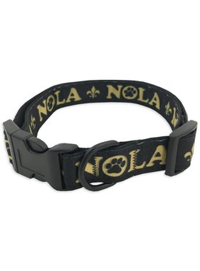 Black and Gold NOLA Pet Collar