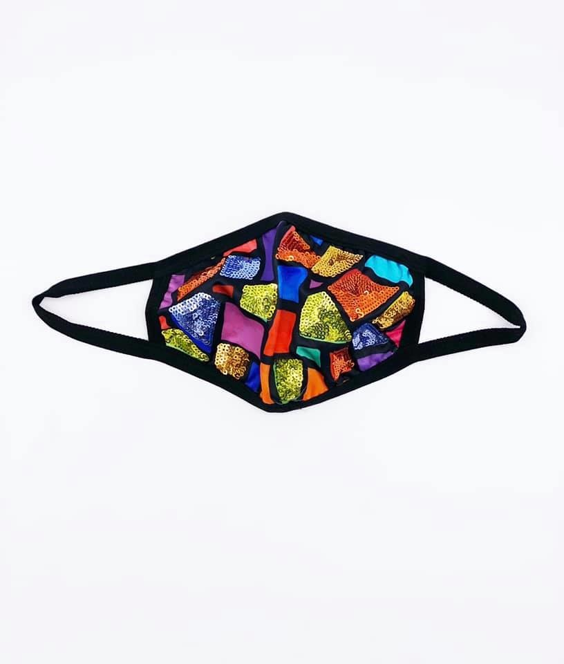 Sparkle City Stained Glass Face Mask