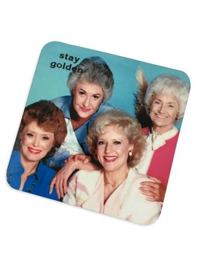 Stay Golden Cork Coaster