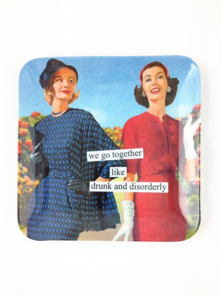 Drunk And Disorderly Mini Tray by Anne