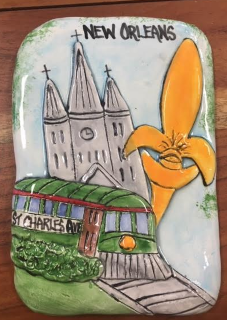 New Orleans Inspired Ceramic Plaque