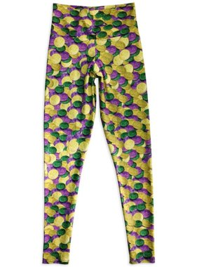 Mardi Gras Doubloon Leggings