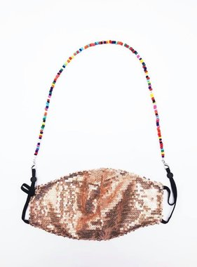 Rainbow Beaded Face Mask Chain