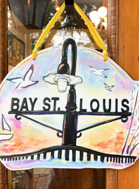 Home Malone Bay St. Louis Sunset Door Hanger