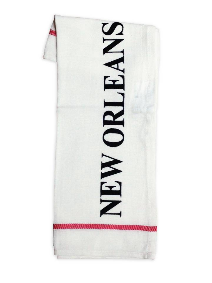 Nola Tawk Hand Stamped Towel, New Orleans