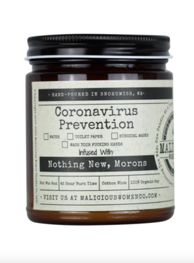 Coronavirus Prevention Candle