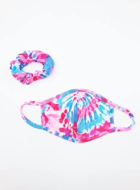 Tie Dye Face Mask and Scrunchie Set, Kids