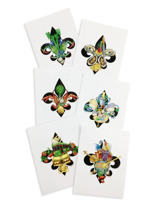 Local Fleur de Lis Artwork Notecard Pack