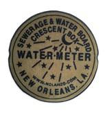 Fleurty Girl Indoor New Orleans Water Meter Rug, Gold