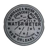 Fleurty Girl Indoor New Orleans Water Meter Rug, Grey