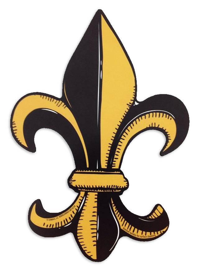 ae88a569730 Black and Gold Fleur de Lis Car Magnet - Fleurty Girl